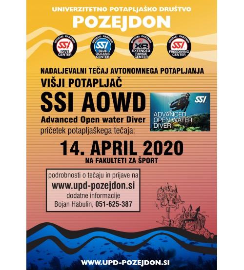 Nadaljevalni tečaj potapljanja - SSI AOWD - Višji potapljač