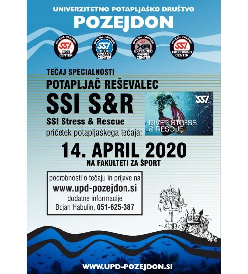 Nadaljevalni tečaj potapljanja - SSI S&R - Potapljač reševalec